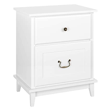 Amazon.com: HOMECHO 2 Drawer Tall Nightstand Bedside End ...