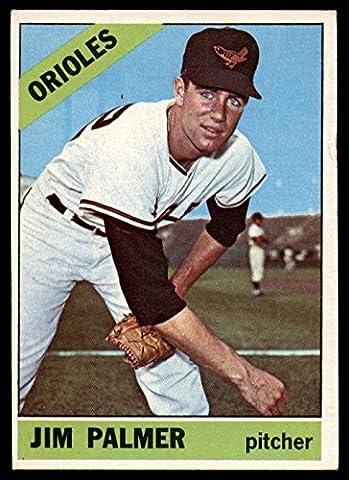 Baseball MLB 1966 Topps #126 Jim Palmer UER EX RC Rookie Orioles - Jim Palmer Baseball