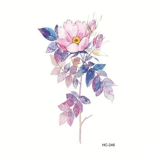 3 PC Impermeable Etiqueta engomada del Tatuaje Hermosa Flor de ...