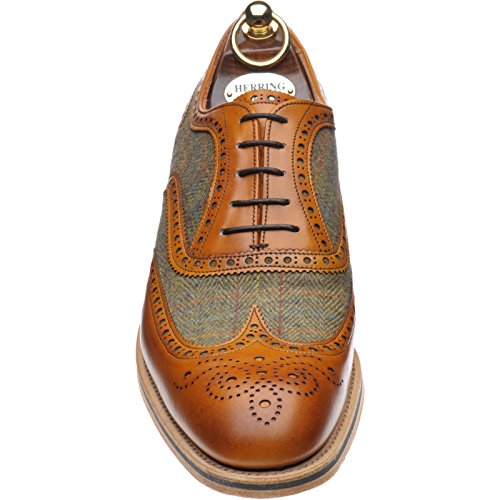 Aringa Bodmin Ii Brogue In Tweed Di Vitello Castagno E Tweed, Multicolore - Vitello Castagna E Tweed - Misura: 45