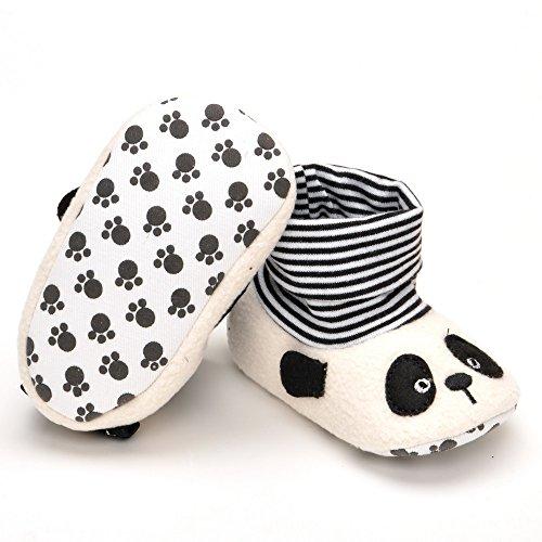 Bebé Panda funda calcetín pre-walkers, color blanco, talla 6 - 12 meses