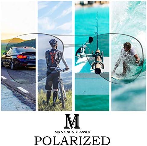 Aviator Sunglasses for Men Polarized Women -MXNX UV Protection Lightweight Driving Fishing Sports Mens Sunglasses MX208