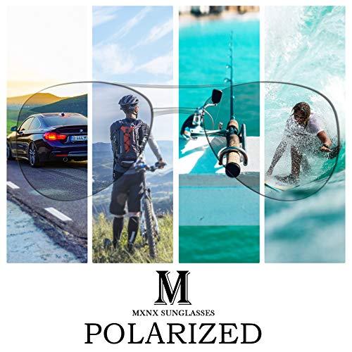 Aviator Sunglasses for Men Polarized Women -MXNX UV Protection Lightweight Driving Fishing Sports Mens Sunglasses MX208 6