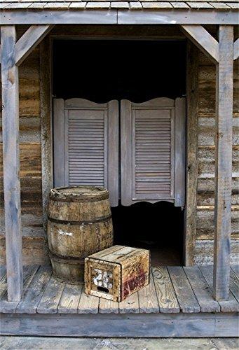 OFILA Vintage Saloon Backdrop 5x7ft Western Barn Door