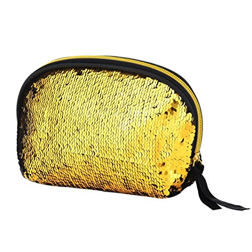Women Zipper Handbag Color Sequins Gold Lavany Double Women Bag Cluthes Wallet for Bag gdwxwOn