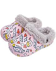 Nasogetch Meisjes Jongens Slippers Kids Pluche Winter Warm Huis Schoenen Klompen Antislip Met Verwijderbare Liner Waterdicht