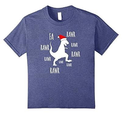 Fa Rawr Rawr Funny T-Rex Dinosaur Christmas T-Shirt
