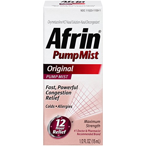 Afrin 12 Hour Pump Mist, Original, 0.5 Ounce (15 ml)