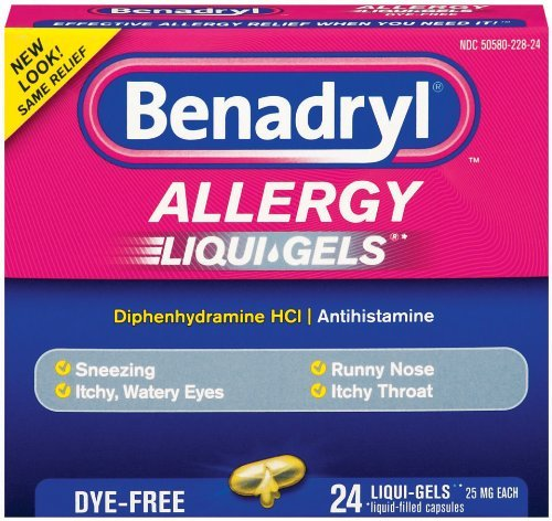 Benadryl Dye-Free Allergy Reliefs (Pack of 3) Benadryl Dye Free Allergy Relief