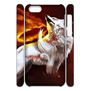 lintao diy Cell phone 3D Bumper Plastic Case Of Fox For iPhone 5C