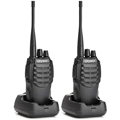 Olywiz Walkie Talkie Long Range Two-Way Radio Rechargeable 1800mAH Battery (Ultra-Long Standby) 16CH UHF406-470Mhz Up to 6 Miles 2 Way Radios 2 Pack HTD826: Electronics