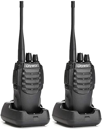 Olywiz Walkie Talkie Long Range Two-Way Radio Rechargeable 1800mAH Battery Ultra-Long Standby 16CH UHF406-470Mhz Up to 6 Miles 2 Way Radios 2 Pack HTD826