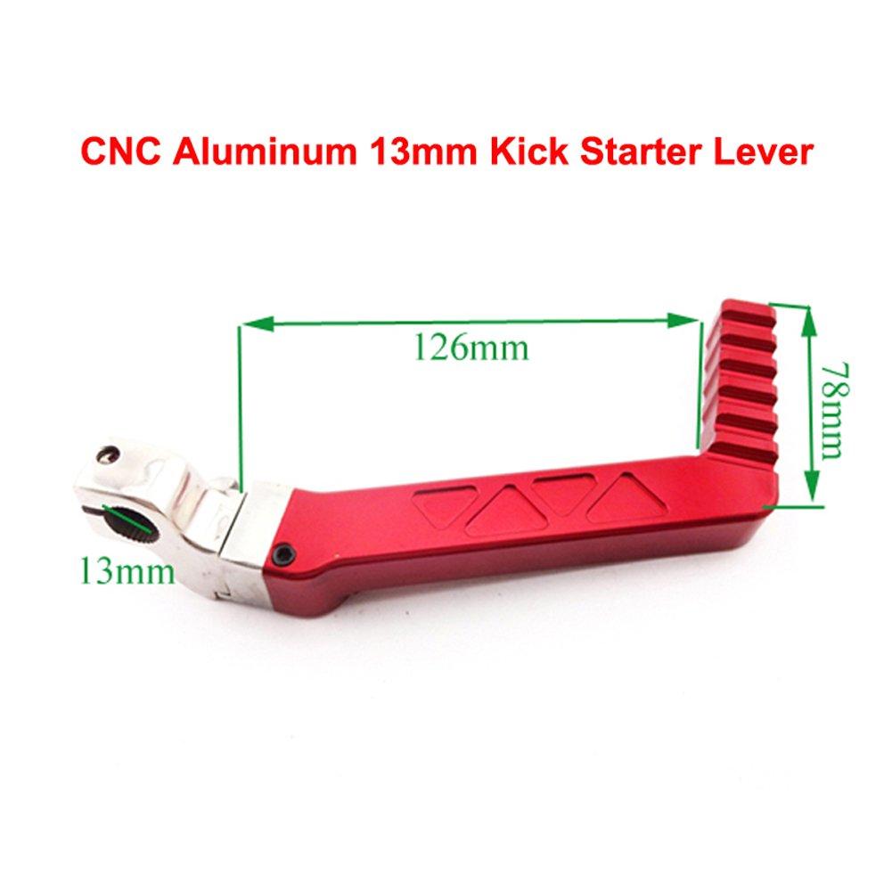 TC-Motor CNC Aluminum Red Kickstarter Kick Starter Lever For 50cc-160cc Lifan YX Chinese Pit Dirt Bike Motorcycle XR50 CRF50 CRF70 SSR Thumpstar
