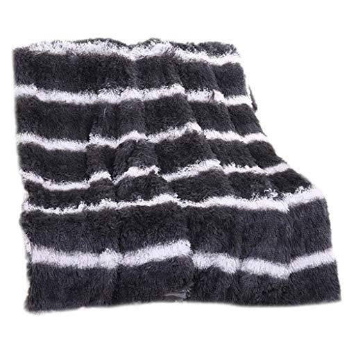 Gallity Soft Sofa Blanket Bed Blanket Long Shaggy Cozy Fluffy Faux Fur Sheet Warm Lazy Quilt -