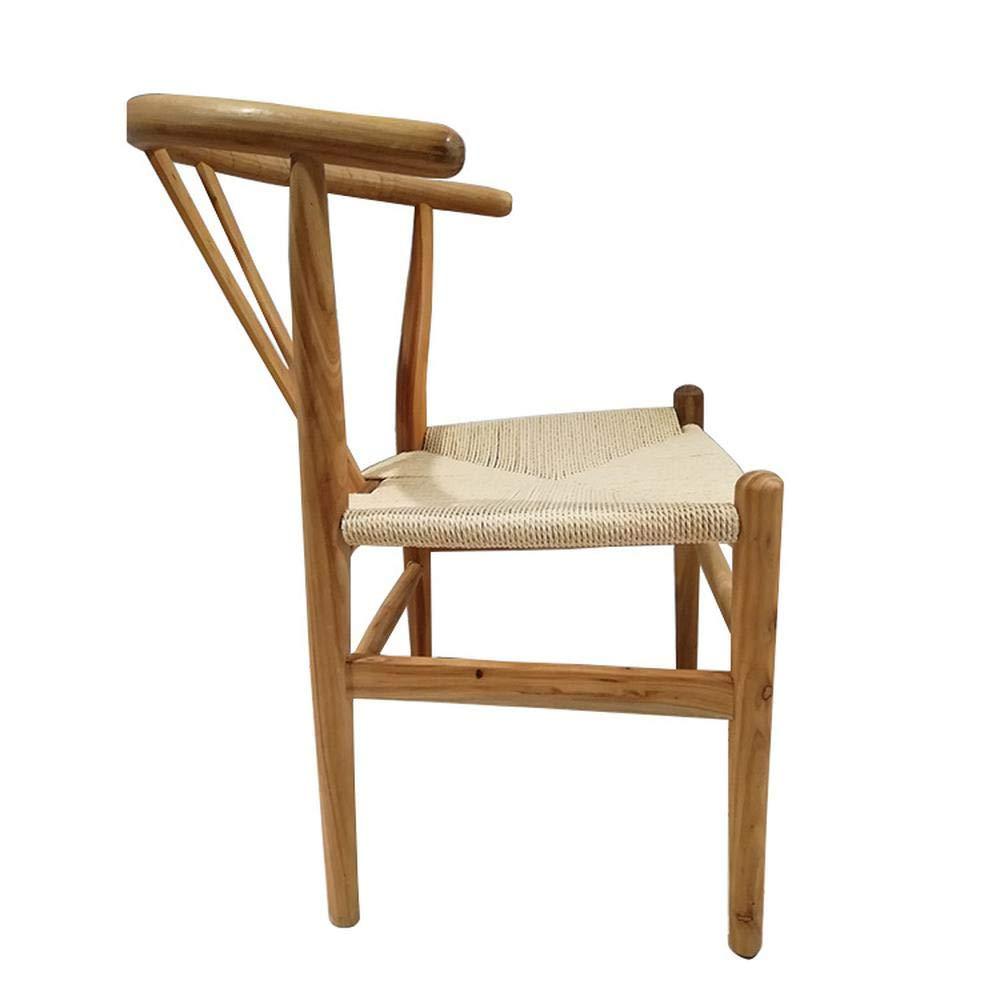 Amazon.com: Silla de comedor de madera maciza con muebles ...