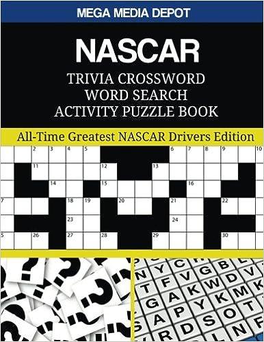 Amazon com: NASCAR Trivia Crossword Word Search Activity