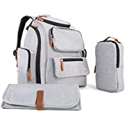 Multi-Function Backpack Diaper Bag Organizer | Large Capacity | Nice Stylish Designed Cute Baby Bag with Stroller Straps | 12 Pockets, Infant Changing Pad & Sundry Bag for Travel & Outdoors