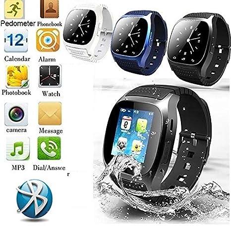 Amazon.com: FAIYIWO Bluetooth Smart Watch M26 with LED ...