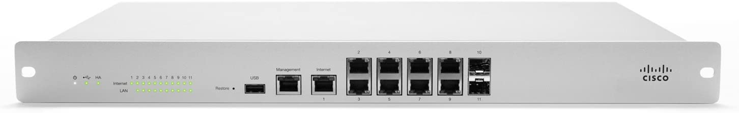 Cisco Meraki MX100 Cloud Managed Security Appliance – Enterprise Licensing Required and Sold Separately