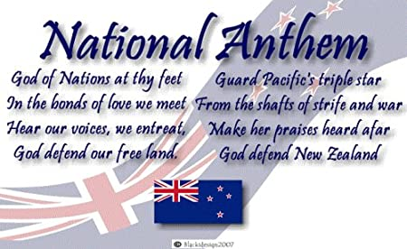 10inch x 8inch Art Print-New Zealand Flag-National Anthem