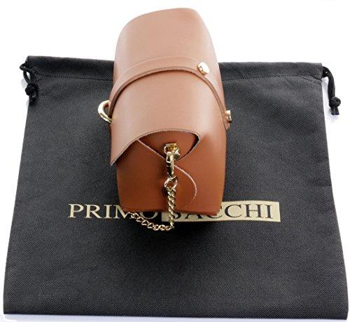 en Tan petit le bandoulière de Sacchi protecteur italien avec Primo sac chaîne Foncé marque Micro bracelet Sac épaulement nbsp;Comprend soirée Mini métal de cuir en IUXwIgqzx