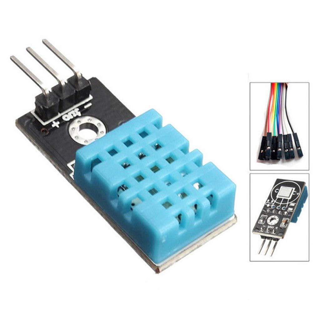 FBlue DHT11 DHT11 Digital de Temperatura y el m/ódulo Sensor de Humedad Relativa para Arduino
