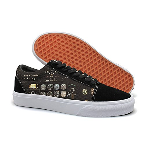 8 Skate Pilot - Armsttm Women Skate Shoes Airplans Pilot And Physics Classic Suede Sneaker Work Shoe Laces