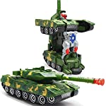 iChoice™ Deformation Combat Tank Transform Robot Toy with Light & Music Automatic Transforming Robot Tank Toy for Kids with Bump Function (Combat Tank)