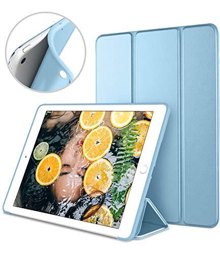 DTTO iPad Mini Case for iPad Mini 3/2 / 1, Ultra Slim Lightweight Smart Case Trifold Cover Stand with Flexible Soft TPU Back Cover for iPad Apple Mini, Mini 2, Mini 3 [Auto Sleep/Wake],(Sky Blue)