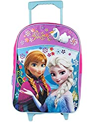 Fast Forward Little Girls  Frozen Roller Backpack, Pink/Purple, 16x12