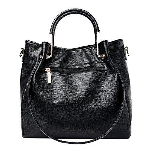 Nuevo Bolso De Las Mujeres De Yy.f Nuevo Paquete Femenino Auténtico Externo Elegante Interno Práctico Multi-color Black