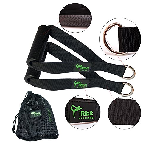 iRibit Fitness Professional Exercise Handles for Cable Machines and Resistance Bands