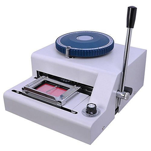 GHP 70 Code Characters Adjustable Character Depth Manual PVC Card Embossing Machine by Globe House Products