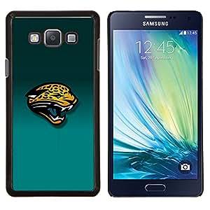 Tiger Panther- Metal de aluminio y de plástico duro Caja del teléfono - Negro - Samsung Galaxy A7 / SM-A700