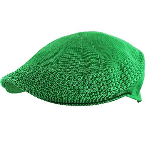 THE HAT DEPOT Classic Mesh Newsboy Ivy Cap Hat (S, Kelly Green) ()