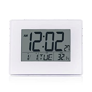 Despertador ZHAOJING Dual Use Alarm Clock Reloj de Pared Calendar Night Light Termómetro Bedside Electronic Alarm Clock: Amazon.es: Hogar