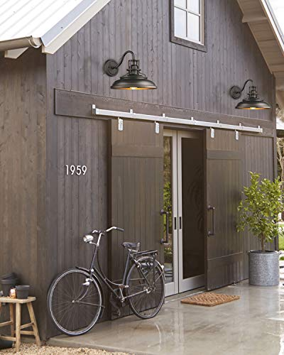 FEMILA Indoor Outdoor Wall Sconces, Gooseneck Barn Light Vintage Farmhouse Wall Lamp, Oil Rubbed Bronze Finish, 4FY15-1W…