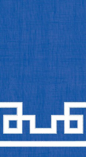 Entertaining with Caspari Guest Towels, Rive Gauche Marine Blue, Pack of -