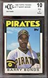 1986 topps traded #11t BARRY BONDS pittsburgh pirates rookie card BGS BCCG 10 Graded Card