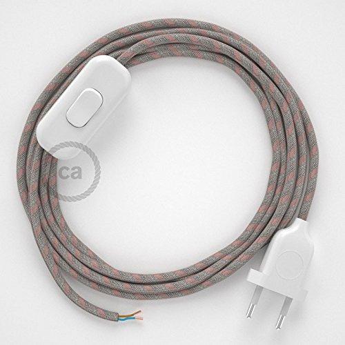 creative cables Cableado para lámpara, Cable RD51 Algodón y Lino ...