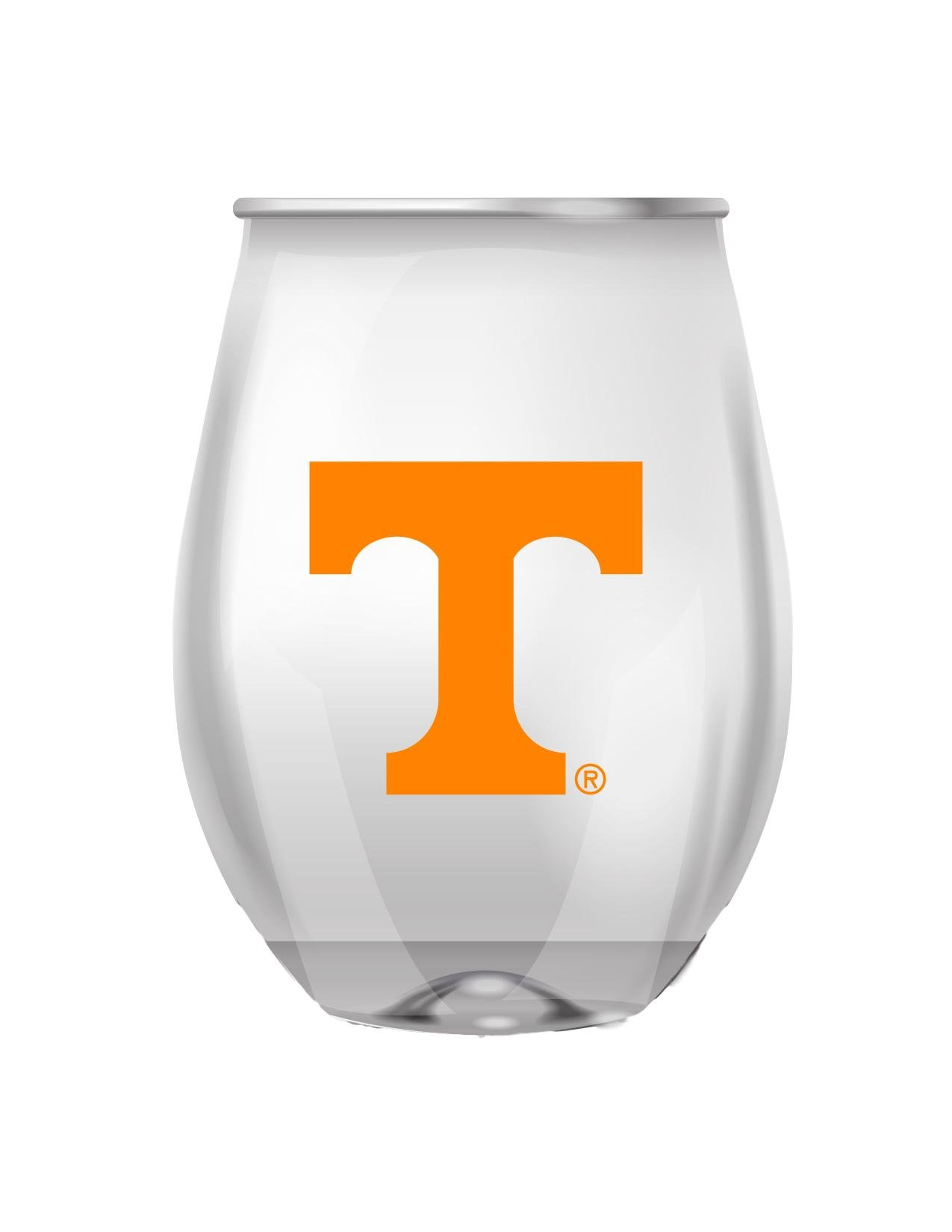 Tennessee Stemless Shatterproof Heavy Duty Wine or Beverage Glass Set of 4
