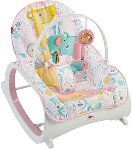 Fisher-Price Infant-to-Toddler Rocker, Pink (Girls Price Fisher High Chair)