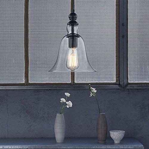 CLAXY Ecopower 1 Light Vintage Hanging Big Bell Glass