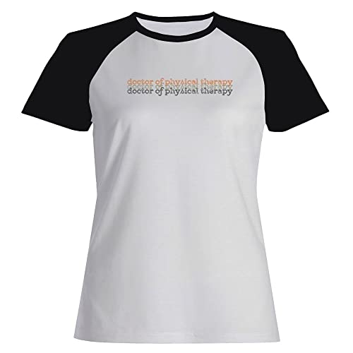 Idakoos Doctor Of Physical Therapy repeat Maglietta Raglan Donna