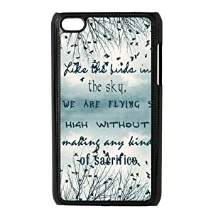 Be Free Birds Quote Protective Hard PC Back Fits Cover Case for iPod Touch 4, 4G (4th Generation) by supermalls
