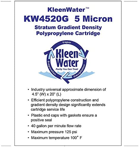 4 KleenWater Watts FPMB-BB5-20 Flow Pro Compatible Replacement Water Filters 5 Micron