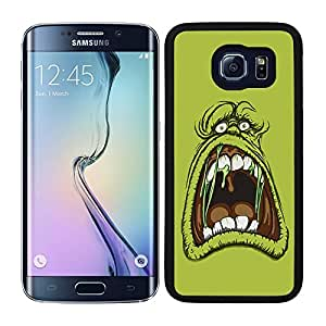 Funda carcasa para Samsung Galaxy S6 Edge diseño dibujo cazafantasmas borde negro
