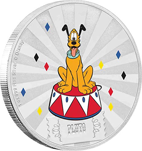 2019 NU Disney Mickey and Friends Carnival: Pluto 1 oz. Silver Coin - with all original Mint packaging $2 Brilliant Uncirculated