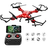 GoolRC T5W PRO FPV Drone Foldable with Wifi Camera Live Video 2.4G 4CH 6 Axis Headless Mode & One Key Return & 3D Flips RC Quadcopter