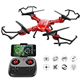 #7: GoolRC T5W PRO FPV Drone Foldable with Wifi Camera Live Video 2.4G 4CH 6 Axis Headless Mode & One Key Return & 3D Flips RC Quadcopter